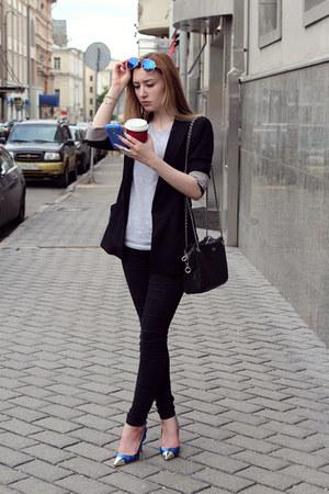 Topshop jeans - Zara jacket - D&G bag - asos sunglasses - Stradivarius t-shirt