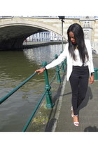 H&M blazer - H&M blouse - Zara pants - Sacha sandals