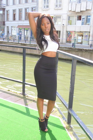 H&M skirt - H&M top - H&M heels