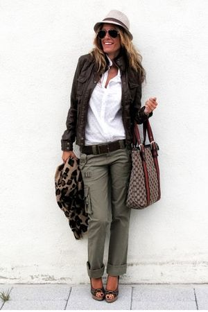 brown Sfera hat - Gucci bag - Bershka jacket - Giovanna Santori shoes - Zara sca