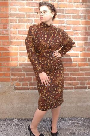 brown reclaimedfashionscom dress
