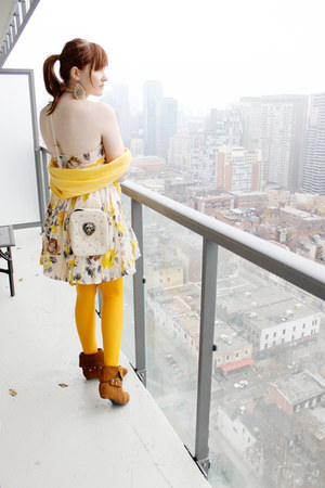 yellow modcloth dress