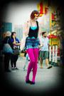 Hot-pink-we-love-colors-tights-navy-h-m-shorts