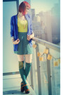Blue-h-m-blazer-teal-asos-socks-chartreuse-h-m-top