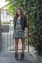 brandy melville dress - Target boots - asos jacket - brandy melville bra