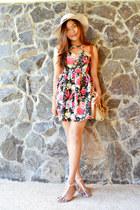 floral print Style stunner Manila dress - transparent A Girls Haven flats