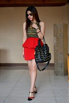 The Ramp skirt - Tomato bag - Zara top - A Girls Haven sandals