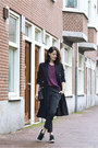 Black-river-island-coat-maroon-gina-tricot-sweater