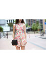 Coral-floral-love-dress-black-asos-boots-black-quilted-theyskens-theory-bag