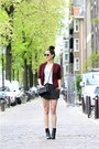 Brick-red-snake-print-new-look-blazer-black-zipper-rebecca-minkoff-bag