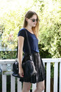 Leather-zipper-bag-studded-new-look-shoes-ray-ban-sunglasses