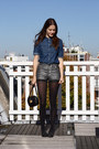 Black-round-vintage-bag-silver-silver-just-female-shorts