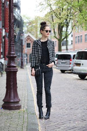black asos blazer - black clear heel Ecugo boots