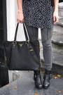 Black-buckle-dolce-vita-boots-black-polkadot-motel-dress