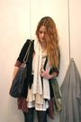 Brown-elle-cardigan-white-h-m-top-beige-topshop-skirt-black-h-m-shoes-si
