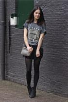 charcoal gray banggoodcom t-shirt - heather gray Mango bag