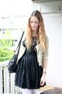 Black-love-label-dress-beige-zara-jacket