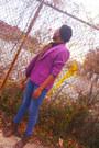 Purple-blazer