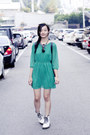 White-classic-1460-dr-martens-boots-green-chiffon-forever-21-dress