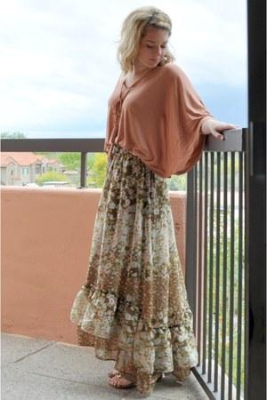 capelike H&M blouse - floral maxi H&M skirt