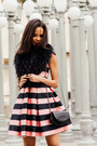 Bubble-gum-topshop-dress-black-chanel-purse-black-yves-saint-laurent-heels