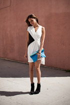 Helmut Lang dress - Dolce Vita boots - American Apparel bag