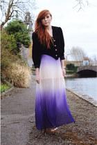 skirt - vintage velvet blazer