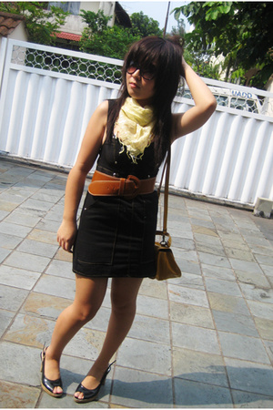denim dress - Dotti scarf - Topshop purse