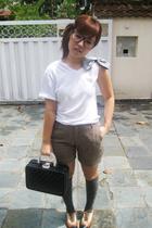 Topshop shirt - shorts - kate spade purse - shoes -