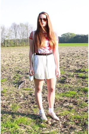 cream Primark boots - cream Topshop bag - brown Topshop sunglasses - red Mango t