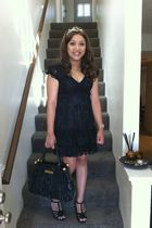 Forever 21 dress - headband accessories - Betsey Johnson purse - Kenneth Cole sh
