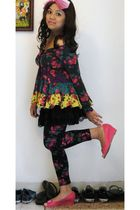 Betsey Johnson blouse - random from Marshalls skirt - Betsey Johnson leggings -