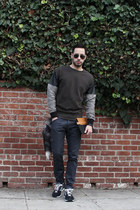 navy cargo Levis jeans - army green multi-texture Zara sweater