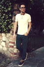 Navy-boat-shoes-vans-shoes-teal-zara-jeans-white-polo-topman-shirt