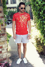 Red-lacoste-shirt-white-trunks-zara-shorts-navy-forever21-sneakers
