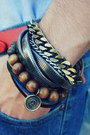Dark-brown-asha-patel-designs-bracelet-dark-brown-aldo-shoes-blue-h-m-jeans