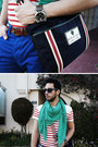 Blue-shoulder-bag-gucci-bag-red-striped-shirt-h-m-shirt