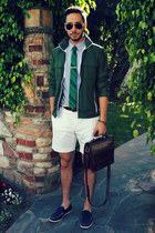 green ben sherman tie - navy boat shoes H&M shoes