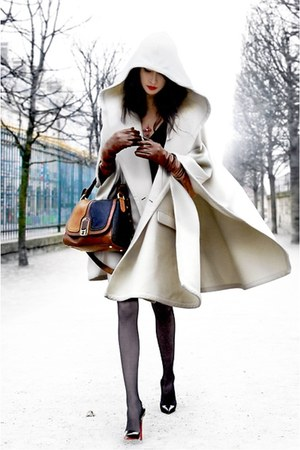 white cape coat