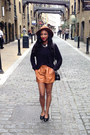 Brown-faux-leather-zara-shorts-black-nelly-top