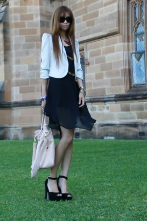 black Ladakh dress - beige Dotti blazer - peach Forever New bag
