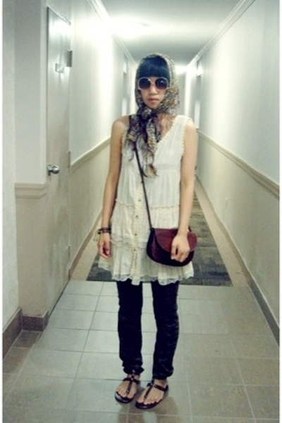 H&amp;M scarf - purse - Lux pants - f21 glasses