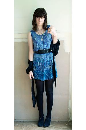 urban original shoes - fahion fair dress - bardot blouse - bardot belt