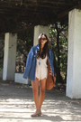 Vintage-denim-calvin-klein-jacket-james-perse-shirt-zara-shorts