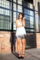 black In My Air skirt - off white laser cut silk Gypsy 05 top