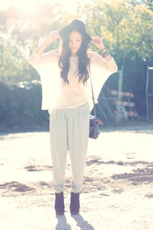 H&M hat - Crossroads Trading Co top - harem pants H&M pants