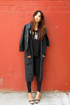 gray maxi Forever 21 cardigan - black victorias secret pink sweater