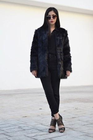 romwe coat - Forever 21 jeans - Aldo sunglasses - Aldo heels