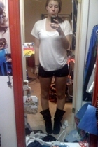 Frenchi shirt - forever 21 shorts - DSW boots