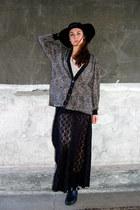 hat Forever 21 hat - black lace skirt Forever 21 skirt - black Rock Paper Vintag